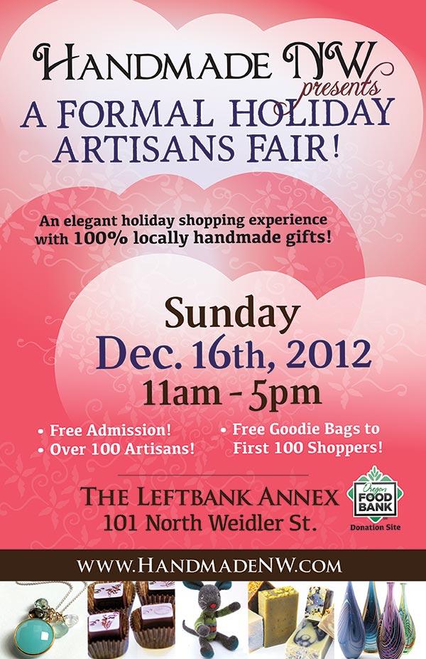 Handmade NW Formal Holiday Artisan Fair 2012