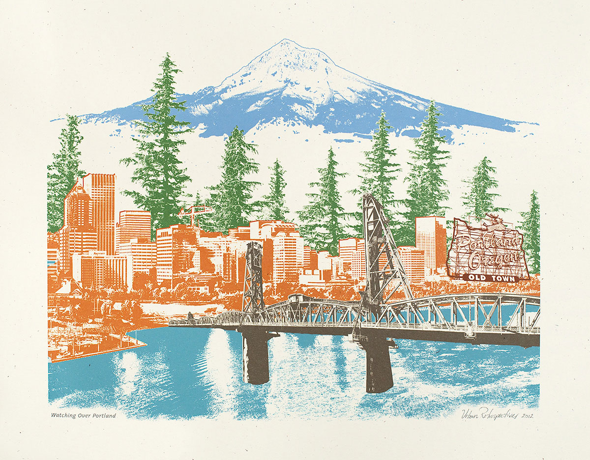 Watching Over Portland Art Print